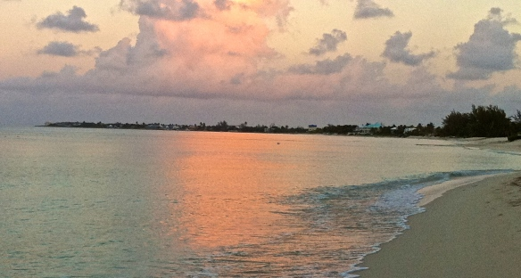 Cayman beach in the morning